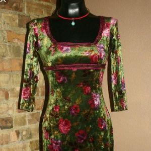 Betsey Johnson Rose Cabbage Dress♡ Vintage